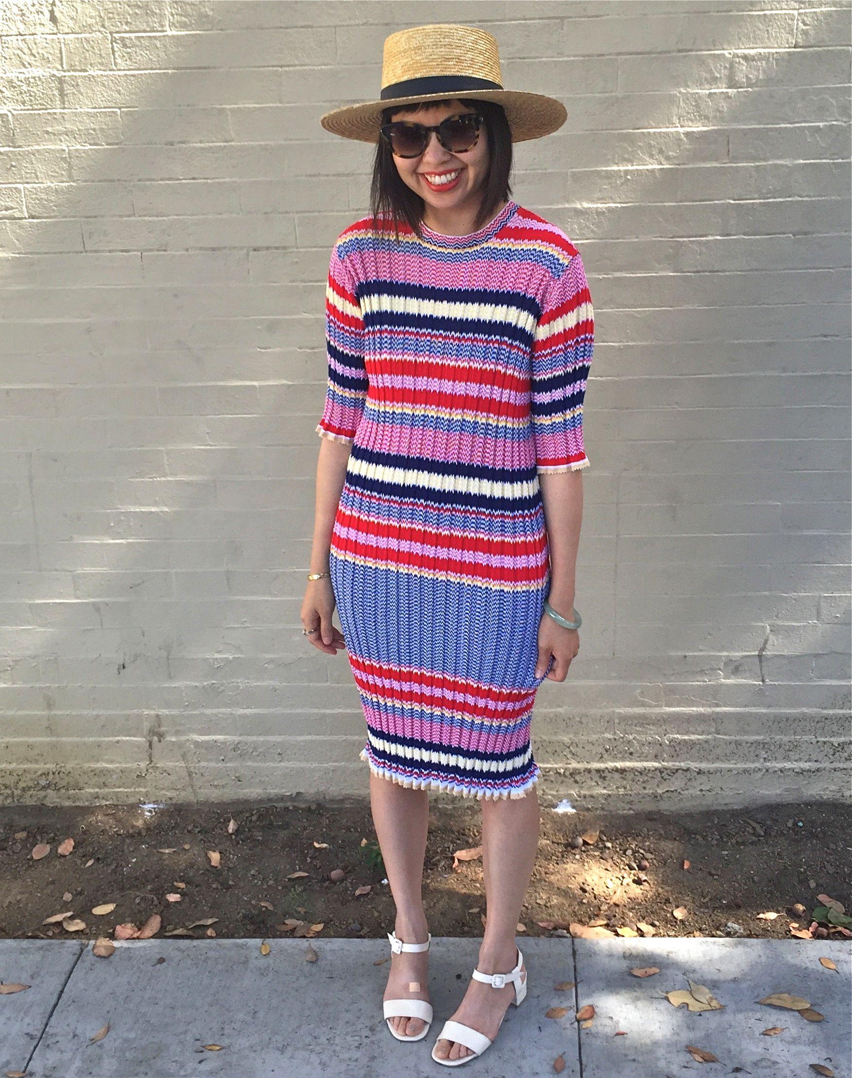 Celine Striped Jacquard Knit Dress Knit Dress Striped Knit Dress Striped Knit [ 2220 x 1755 Pixel ]