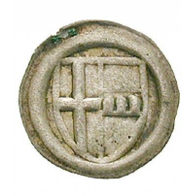 Werden und Helmstedt, Abtei, Johann VI. Stecke, Einseitiger Heller o.J., f.vz: Johann VI. Stecke 1438-1454. Einseitiger Heller o.J.… #coins