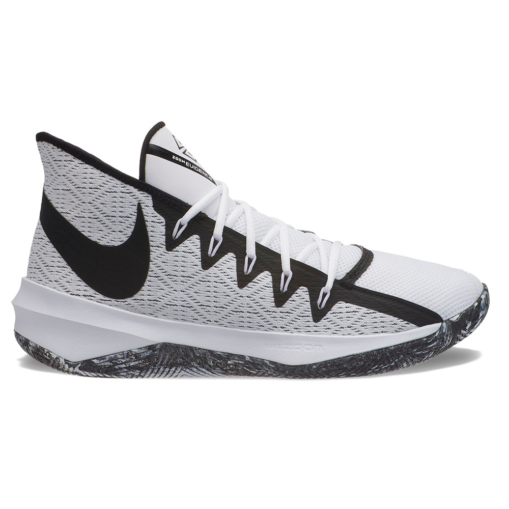 low cost 7c081 eb62f Nike Zoom Evidence III Men s Basketball Shoes, Size  11.5, White