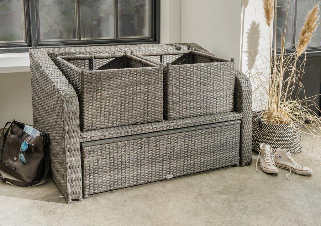 Destiny Lounge Jersey Grau Gartenmobelset Loungeset Balkonset