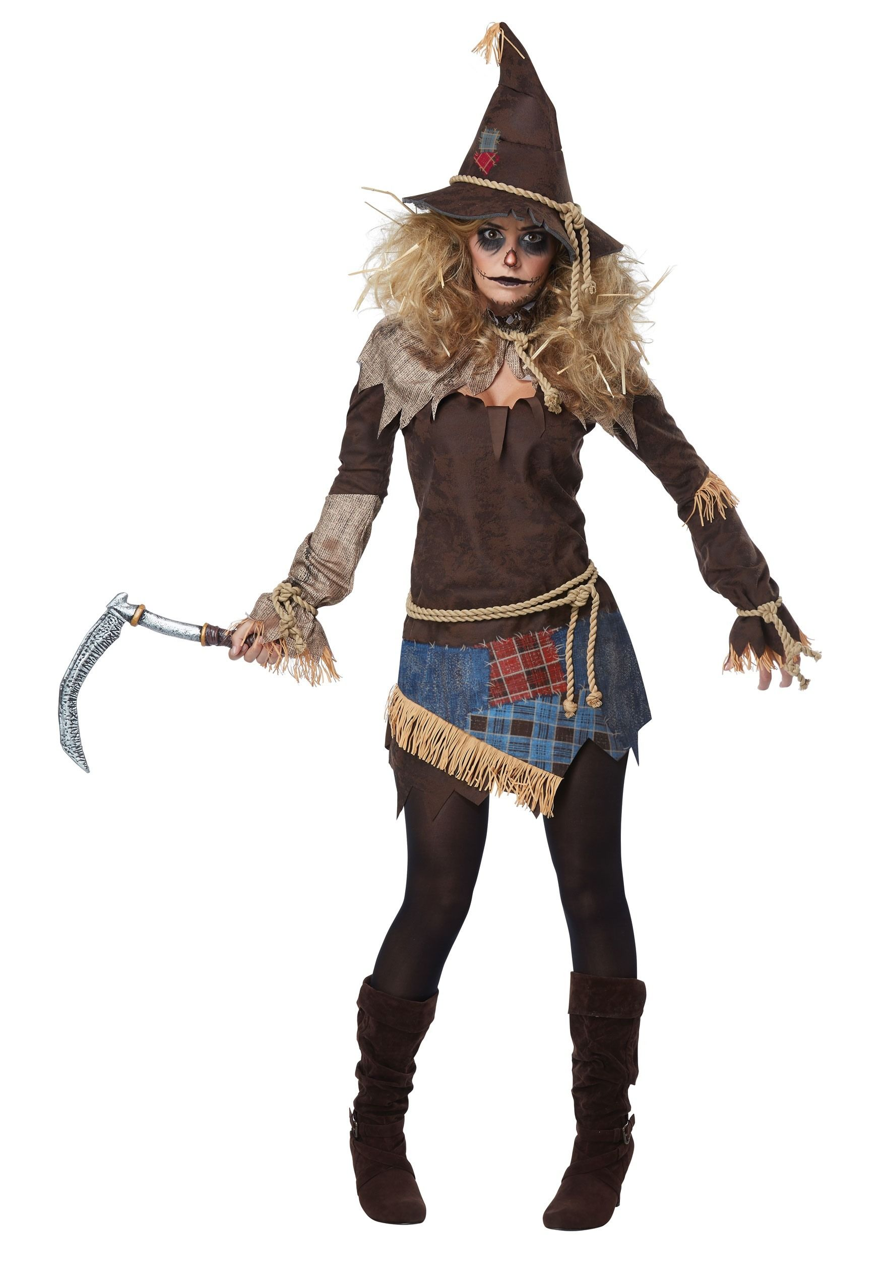 scary lady halloween costumes | creepy scarecrow costume for women