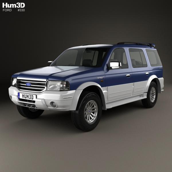3d Model Of Ford Everest 2003 Ford Model Car Brands