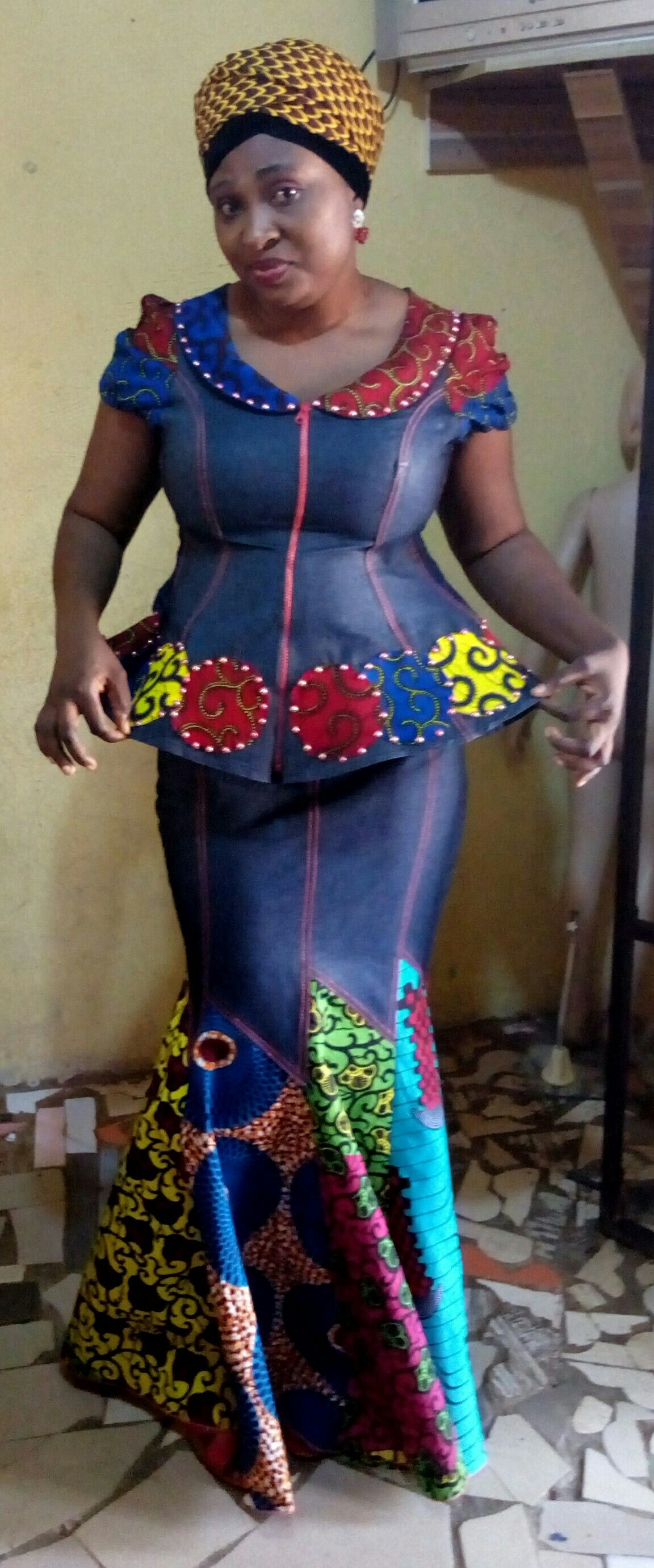 Jean Skirt And Top Adeshewa African Fashion African Fashion
