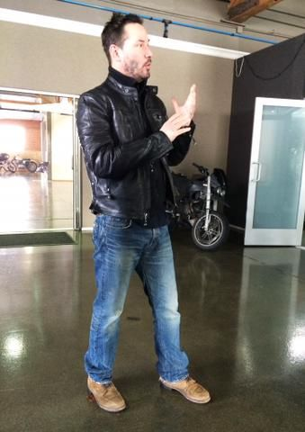 Keanu Reeves at Arch Motorcycle, Feb 17, 2015