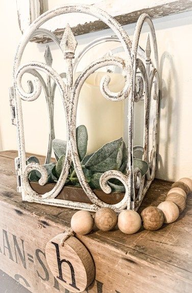 Turn Dollar Tree Plastic Fencing into a Farmhouse Lantern – Lizzy & Erin