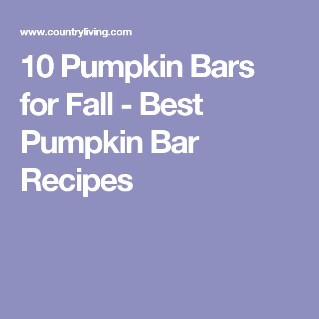 10 Pumpkin Bars for Fall - Best Pumpkin Bar Recipes