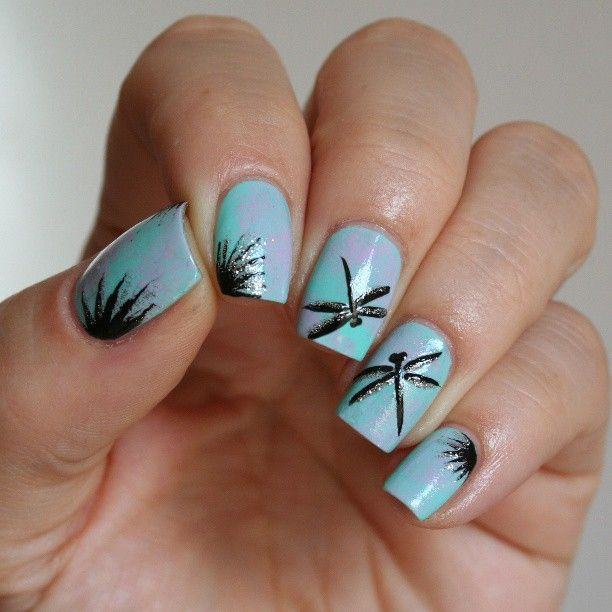 Photo taken by Mary Dragonfly Nail Art, Butterfly Nail Art, Animal Nail Art, - Photo Taken By Mary Dragonfly Nails Dragonfly Nail Art, Nail Art