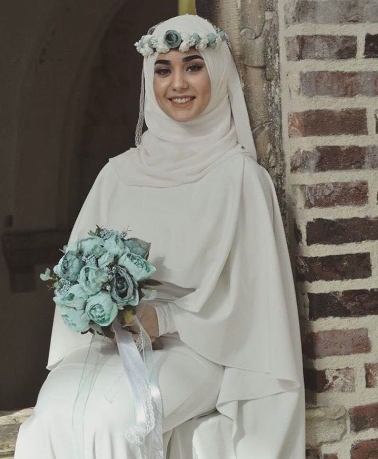 Beauty Muslim Bride Pece Nikab Nikap Nikabis Kapali Carsaf Hicab Hijab Tesettur Gelin Dugun Wedding Gaun Pengantin Pengantin Gaya Pengantin