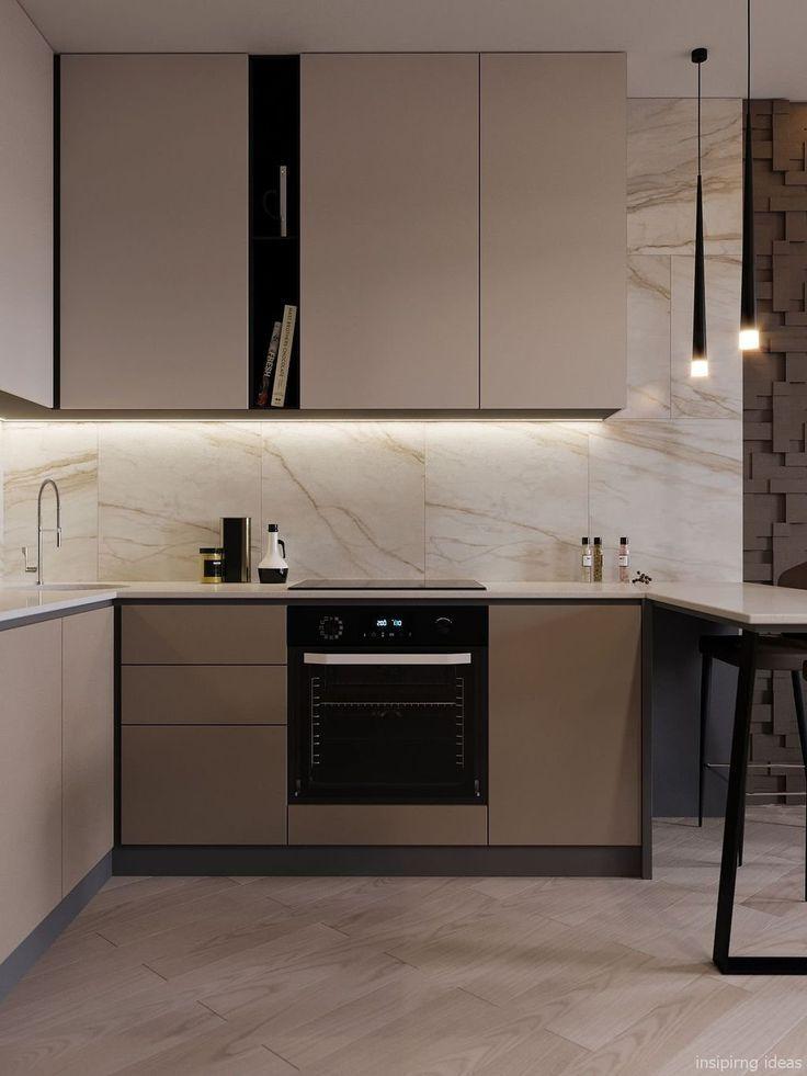 99 Fabulous Small Modern Kitchen Decor Ideas Cuisine Beige