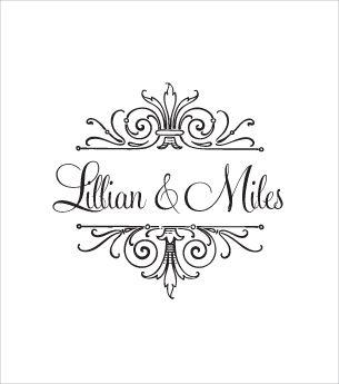 Logo Love The Font Scrolls Com Imagens Monograma Convite