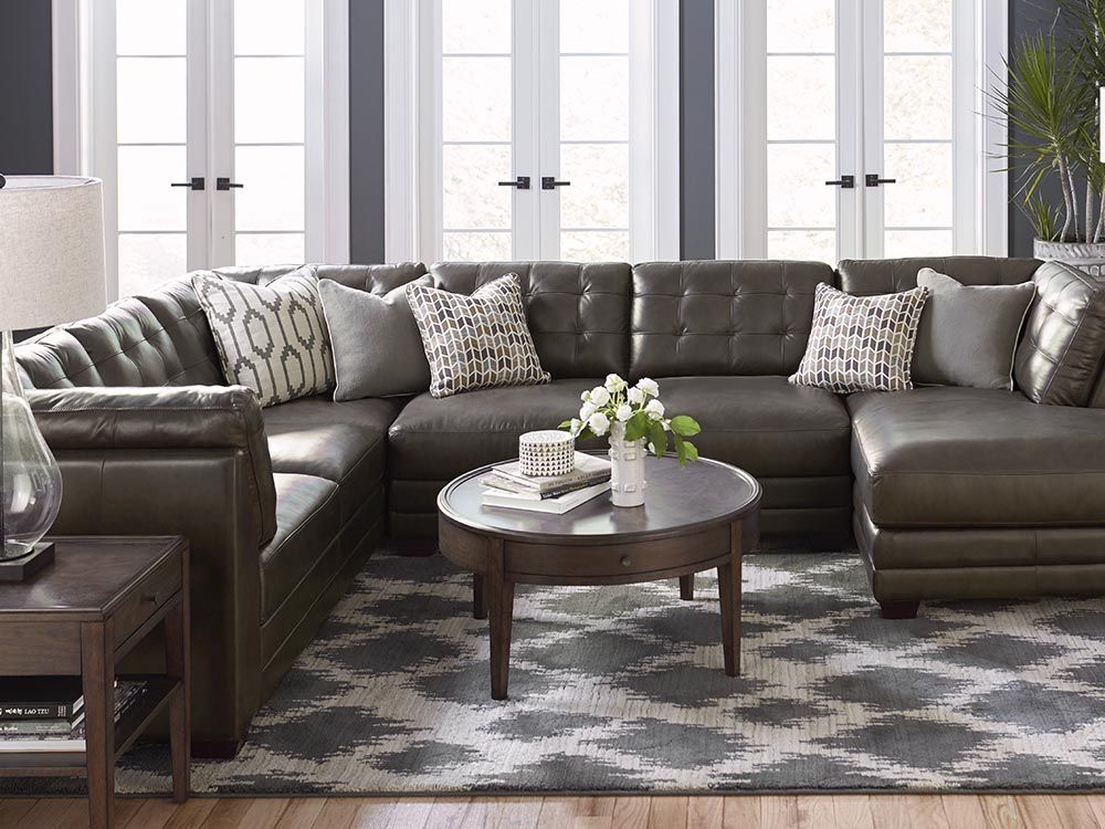 Most Popular U Shaped Leather Sectional Espresso Affinity Living Room Leather Living Room Sectional Gray Sectional Living Room