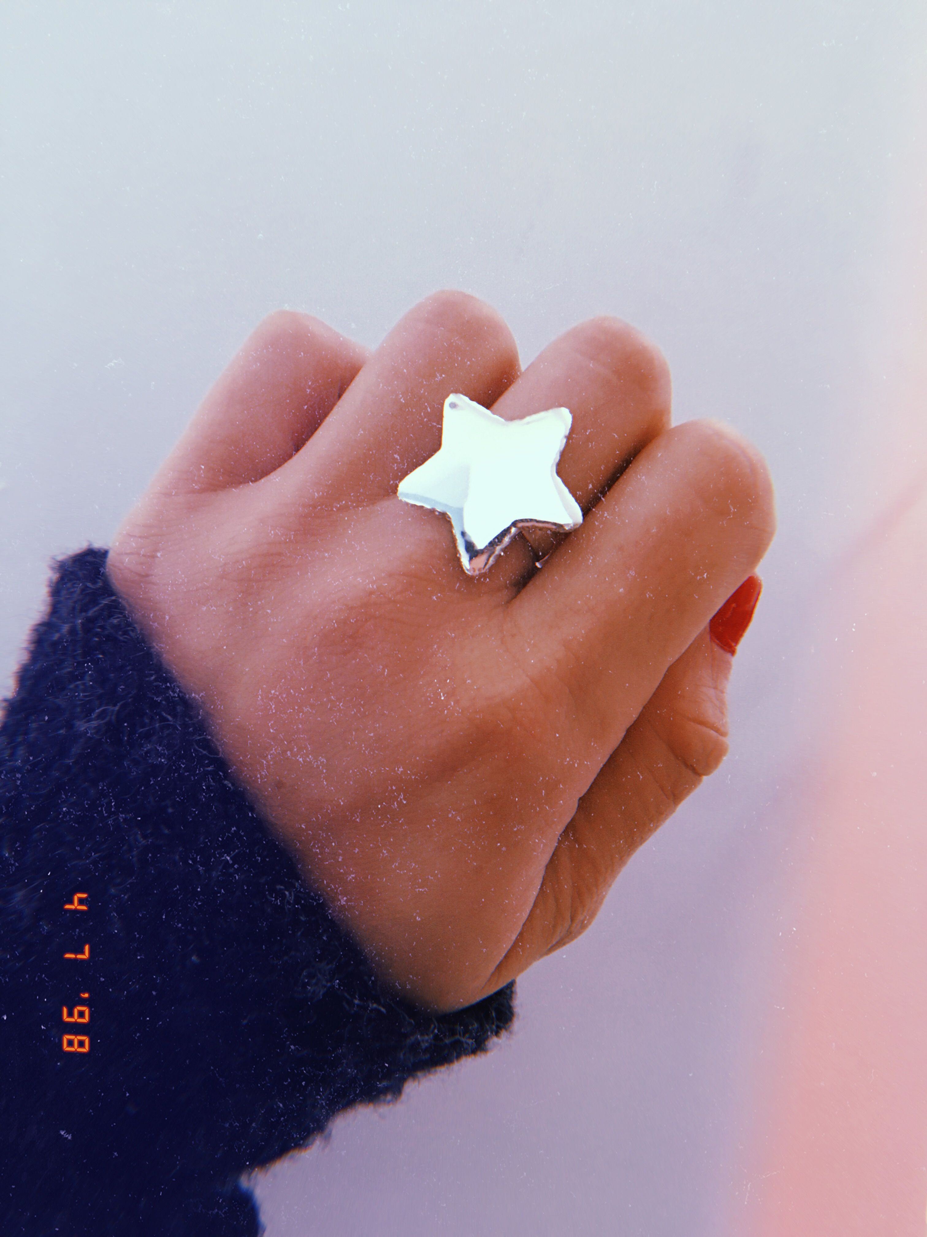 57b1e05c05af Anillo Estrella Chata Grande. Plata 925   joyas en 2019   Anillo de ...