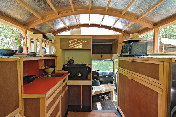 Lloyd House Converted Ford Econoline Interior 2 Tiny