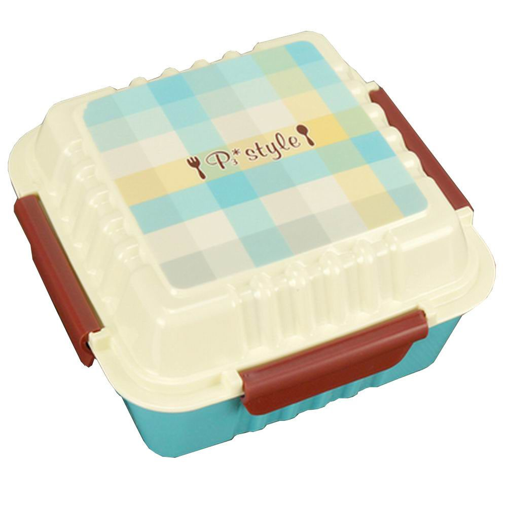 Lovely 1 Layer Bento Lunch Box Food Container Salad Box Blue