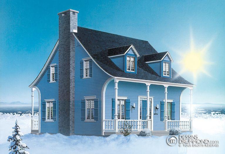 Champêtre W1875 Maison Laprise - Maisons pré-usinées Petite