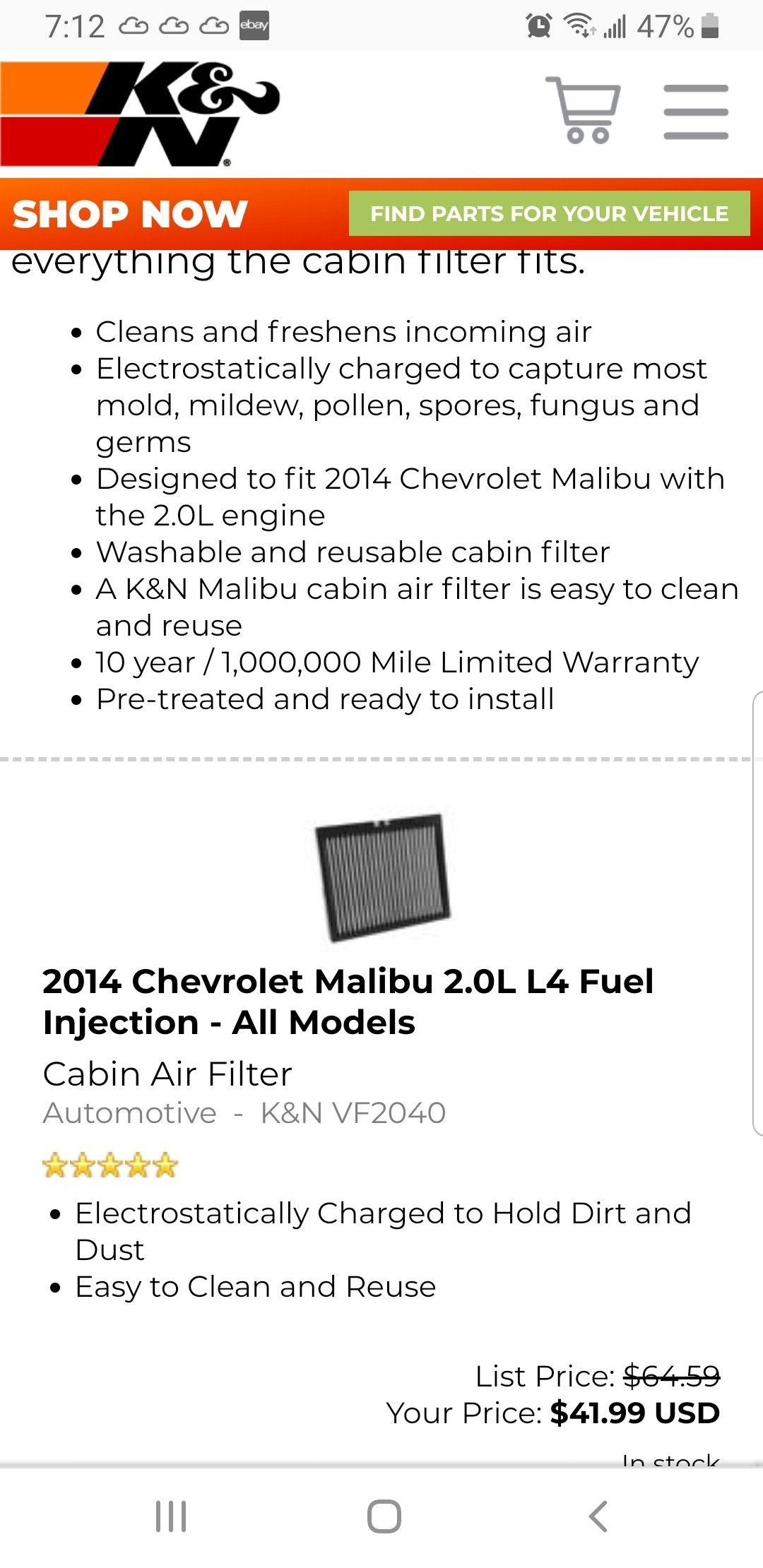 99 Malibu Fuel Filter