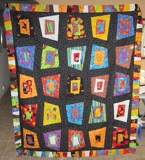 deo's halloween quilt. love the wonkiness