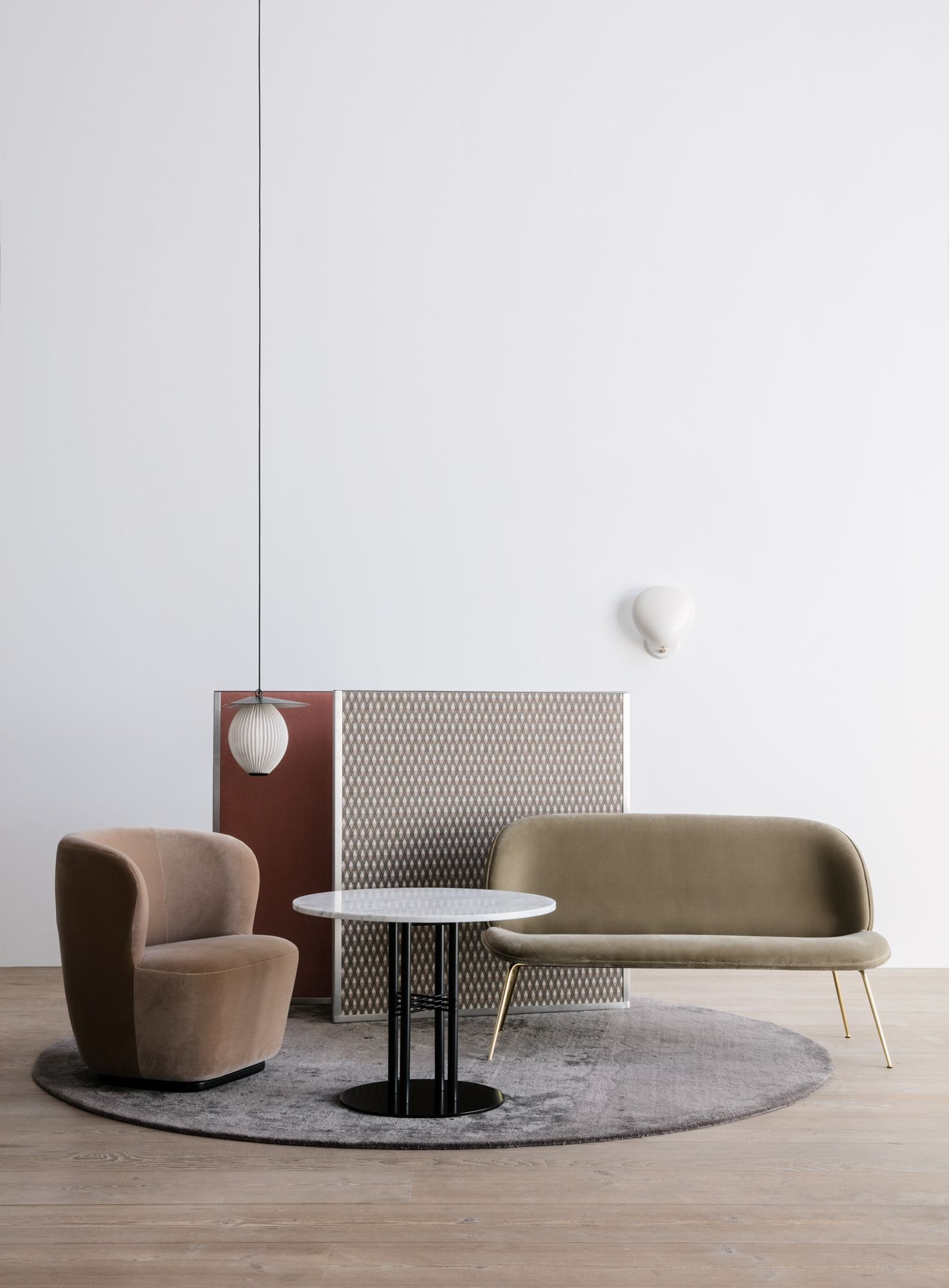 Gubi Stay Lounge Chair Satellite Pendant Ts Column