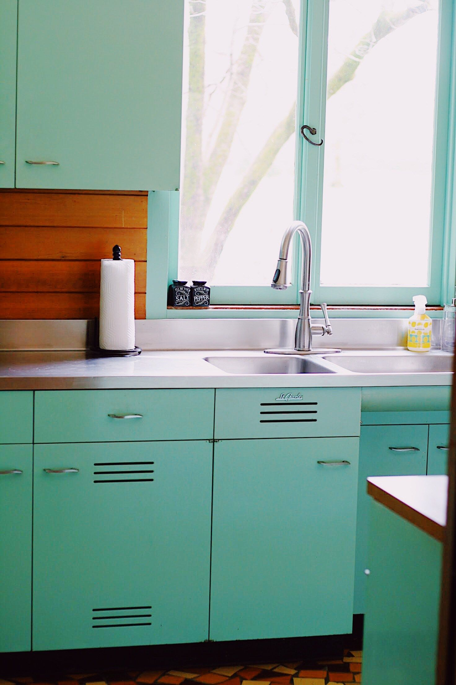 Mid Century Monday 1 St Charles Kitchen Modern Kitchen Design Modern Kitchen Steel Kitchen Cabinets