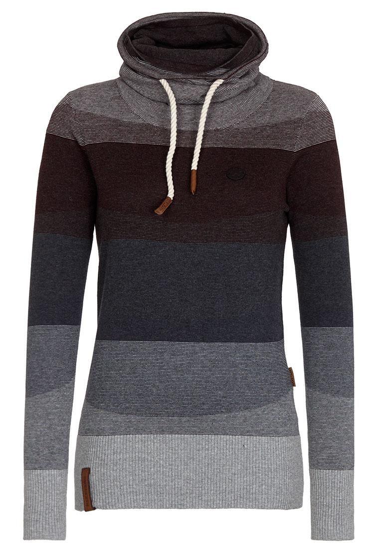Naketano Turtleneck Sweater striped pattern casual look