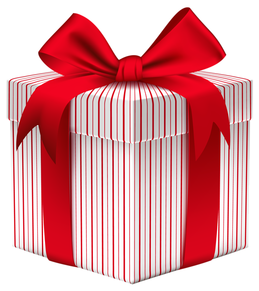 Gift Box with Bow PNG Clipart Image Enfeites de natal