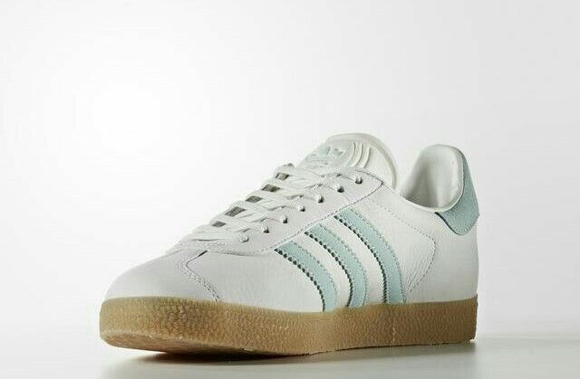 a3fb31a4c8f3 Gazelles in Vintage White   Vapour Green new for S S16