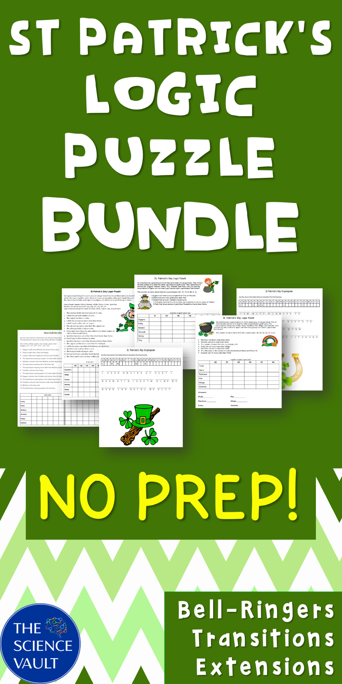 St Patrick S Day Logic Puzzle Bundle In