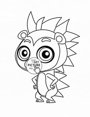 Littlest Pet Shop Rassell Ferguson Coloring Page For Kids Animal Pages Printables Free