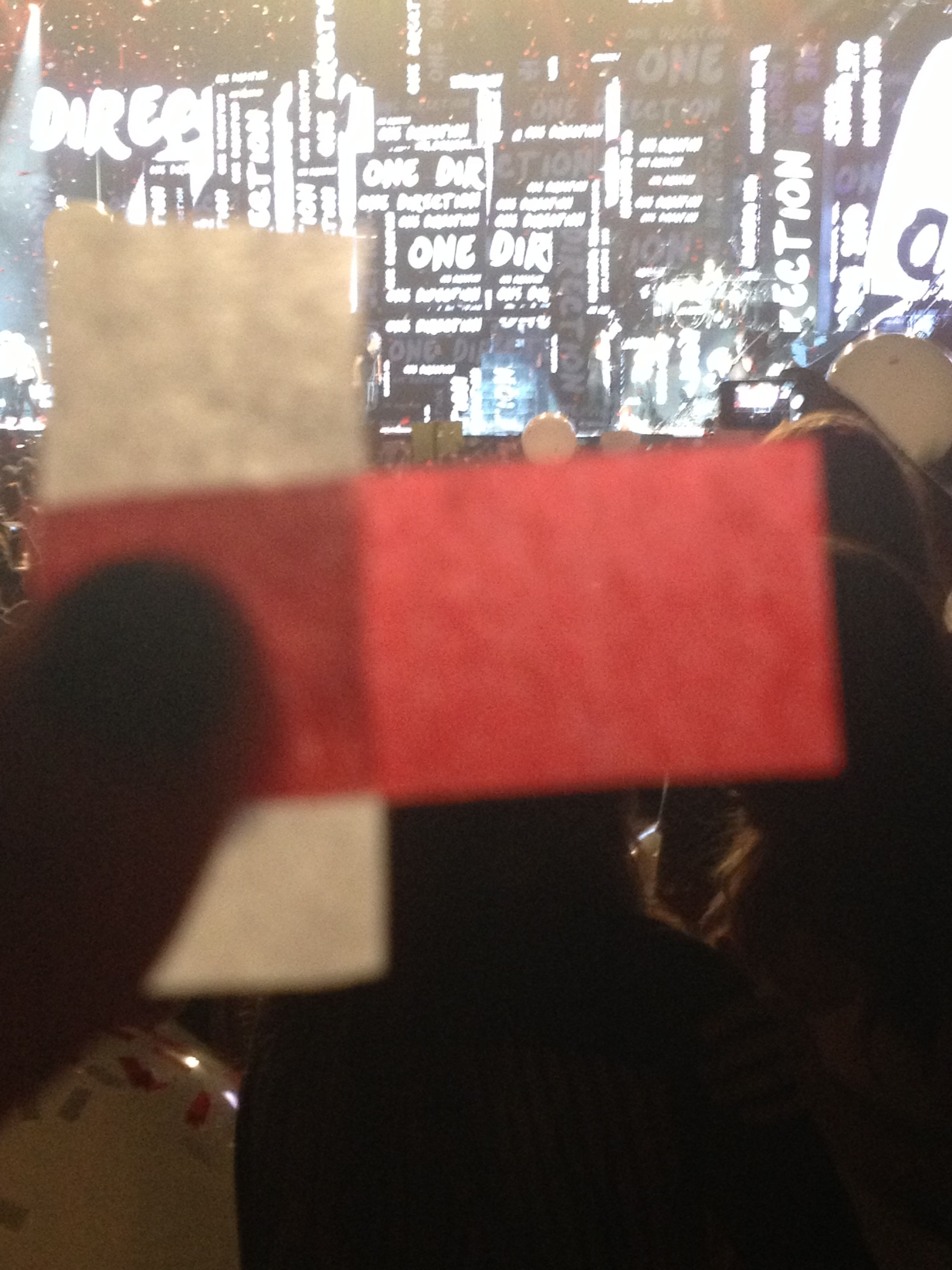 Caught some confetti (: