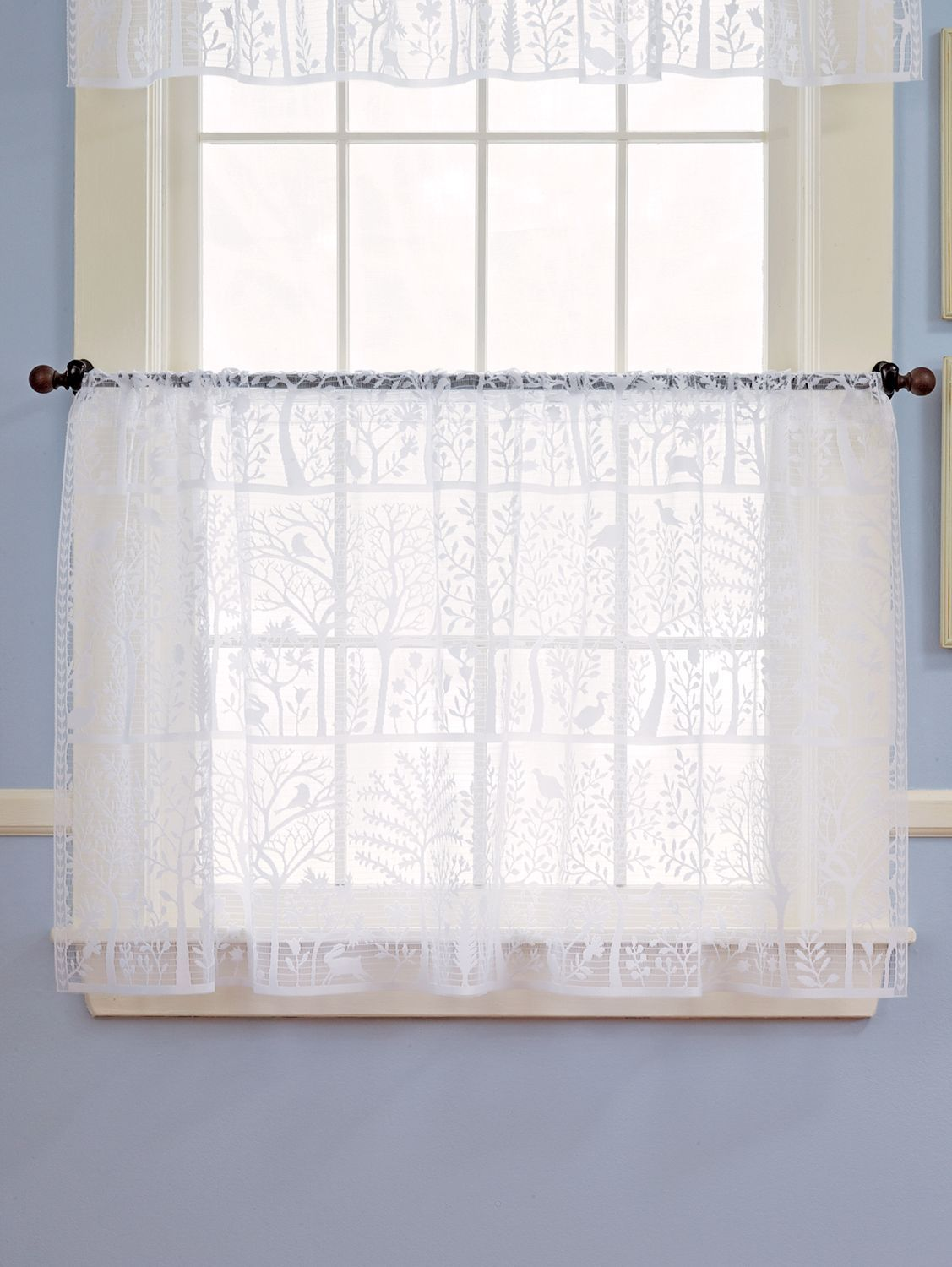 Tree Of Life Lace Rod Pocket Curtain Panel Or Tier With