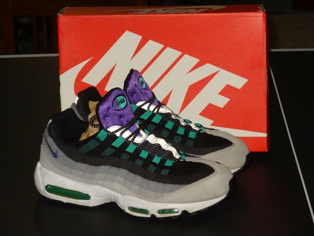 Nike Air Max 95 Grey Purple Reverse Grape White Mens Size 13 ...