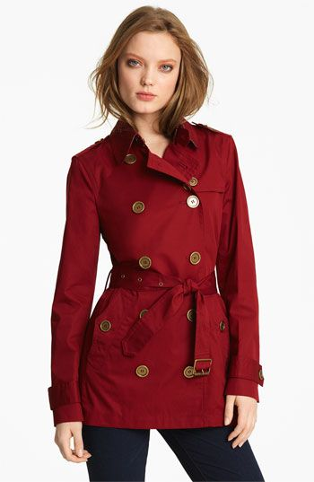 Burberry Brit Double Breasted Trench Coat | Nordstrom