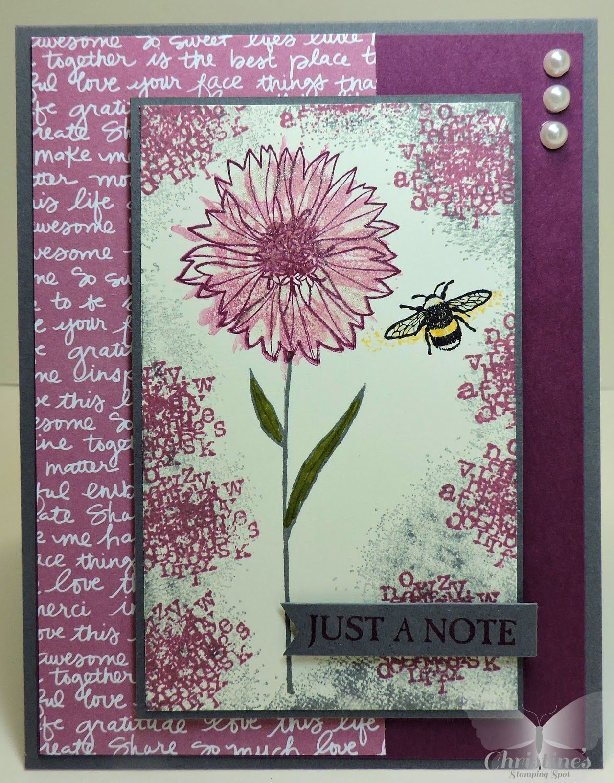 Christines stamping spot video tutorial stampin ups touches christines stamping spot video tutorial stampin ups touches of texture baditri Choice Image