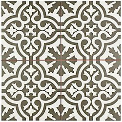 Merola Tile Berkeley Charcoal Brown 17 5 8 Inch X 17 5 8 Inch Ceramic Floor And Wall Tile