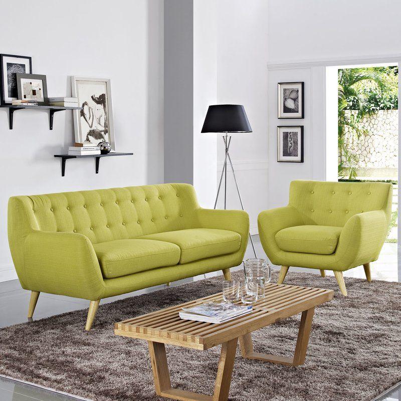 Meggie 2 Piece Living Room Set Living Room Sets Living Room Sofa Set Modern Living Room Set