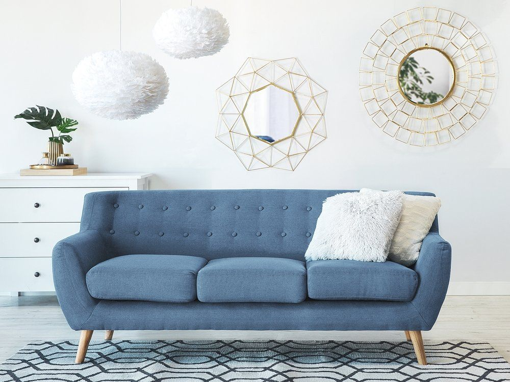 Beliani Modern Upholstered Accent Chair Armchair Button Back Grey Drammen