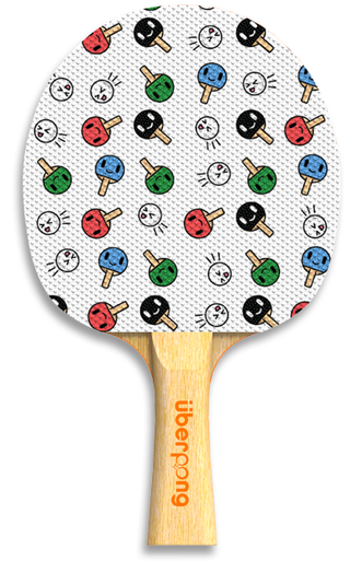 Kawaii Design Uberpong Ping Pong Paddle Ping Pong Paddles Ping Pong Table Tennis Racket
