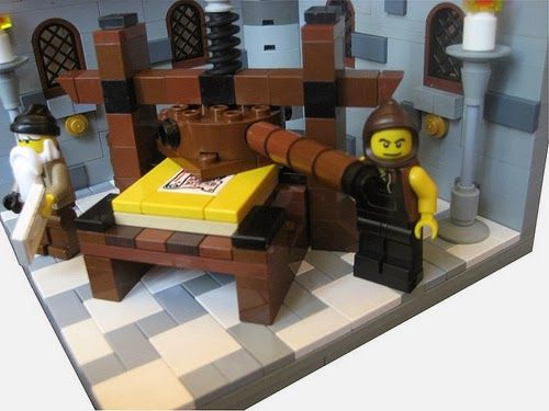 lego model of Gutenbergs #printing press! This came via ...