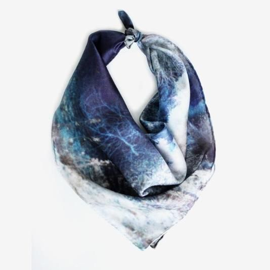 This silk scarf from Deserts + Lakes features a gorgeous desert image.