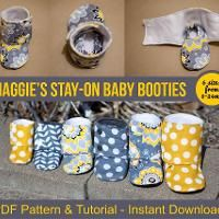 Sewing: Maggie's Stay-On Baby Booties