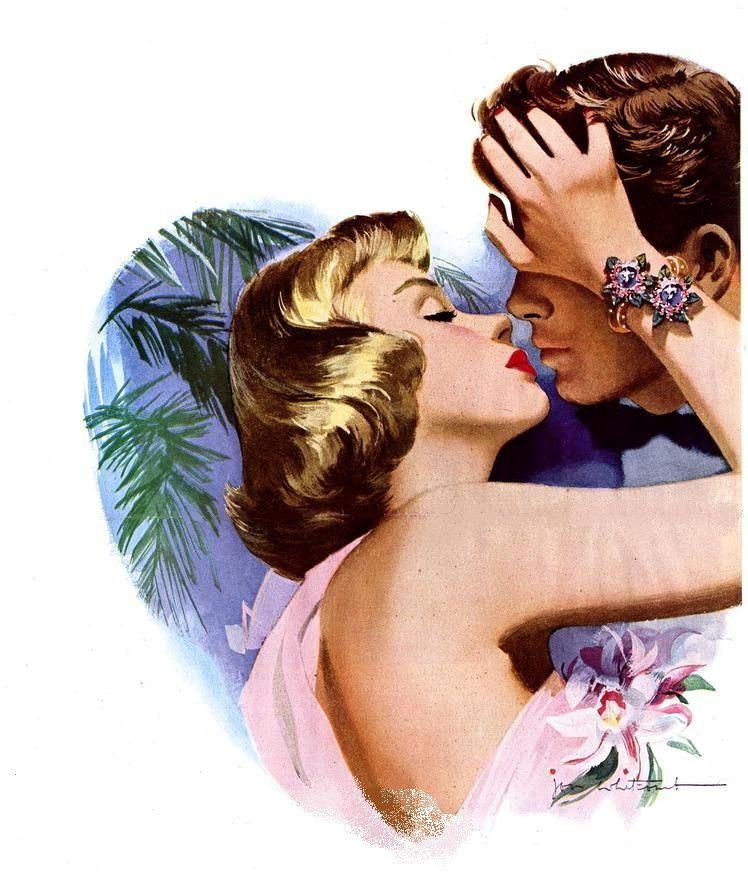 Ретро картинки про любовь для декупажа