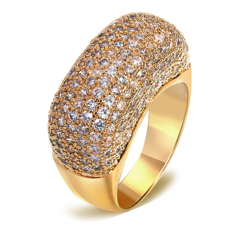 Nice Looking Women Fashion CZ Rings Fashion Jewelry Gift Top