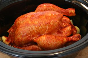 Photo of Whole roast chicken from the slow cooker