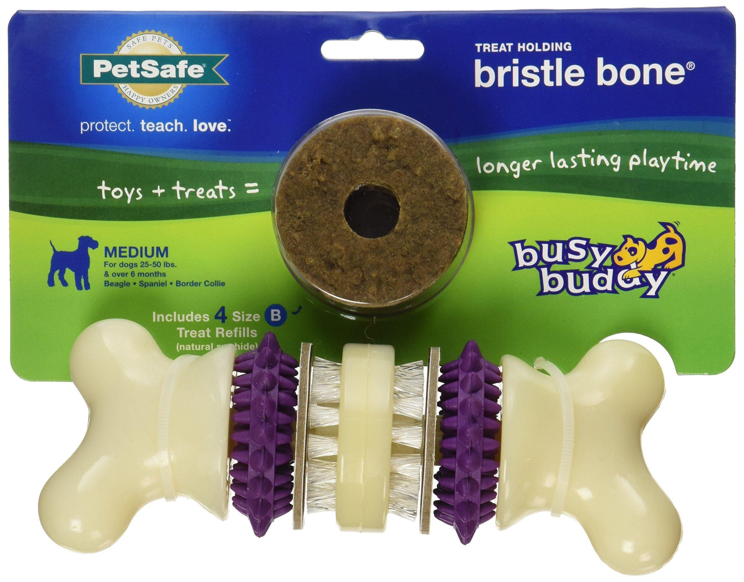 Petsafe Busy Buddy Bristle Bone Dog Toy Medium More Info Could