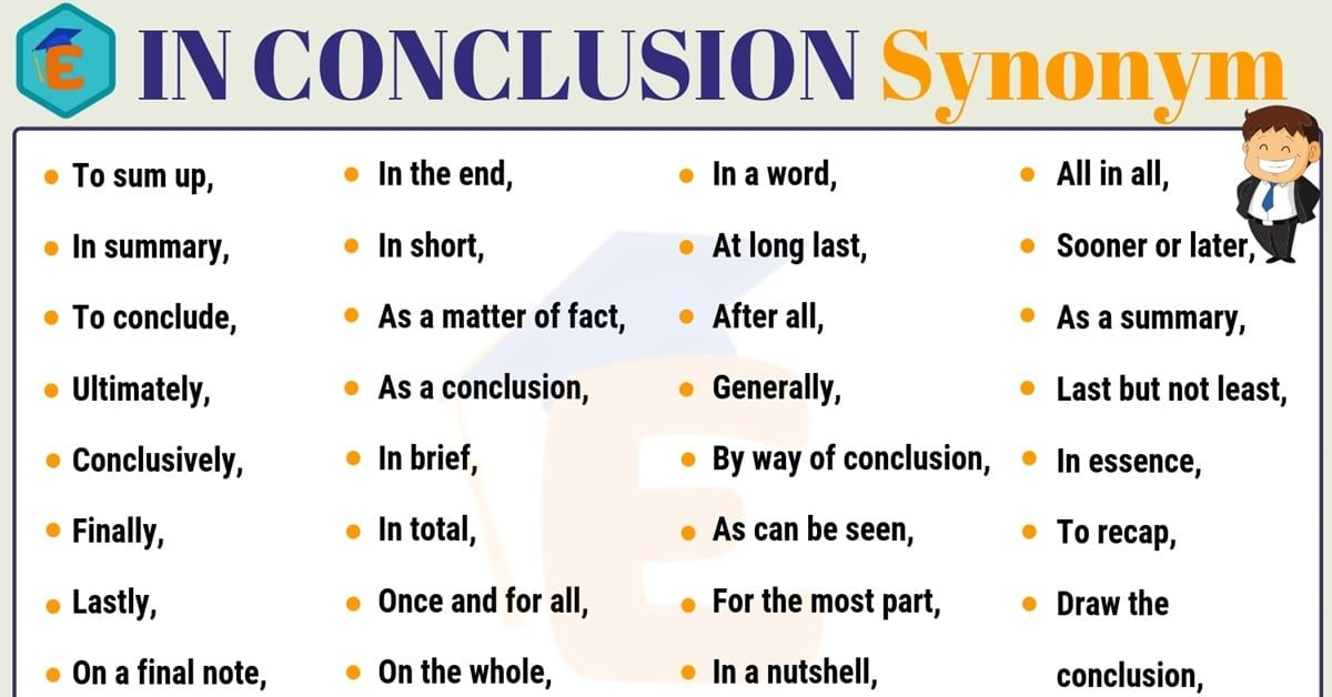 In Conclusion Synonym 30 Useful Synonyms For In Conclusion In 2021 Writing Words Other Ways To Say Life Hacks For School