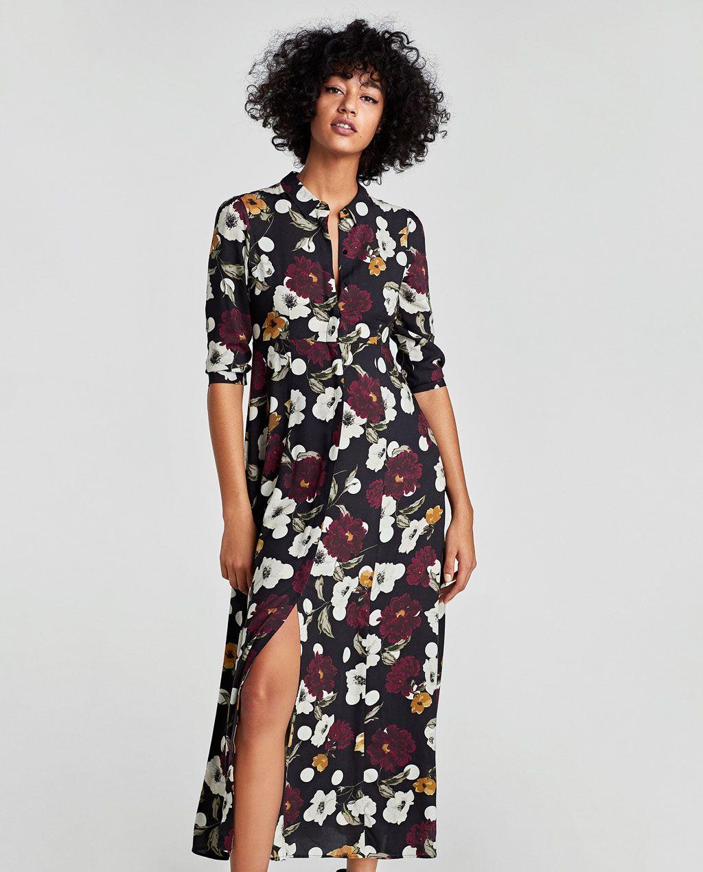 Imagen 2 de VESTIDO FLORES Y LUNARES de Zara | Vestidos