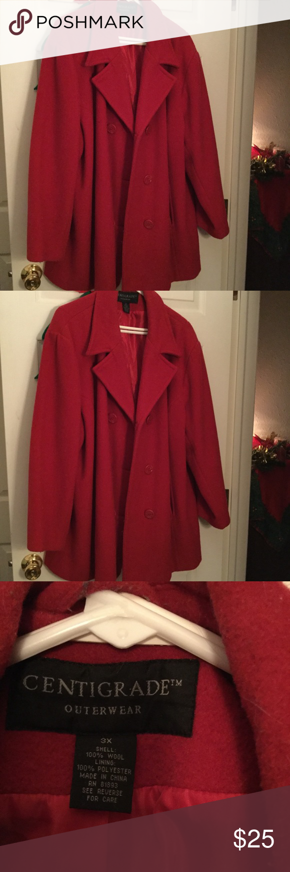 Centigrade Outerware Red Wool Coat Clothes Design Outerwear Jackets [ 1740 x 580 Pixel ]