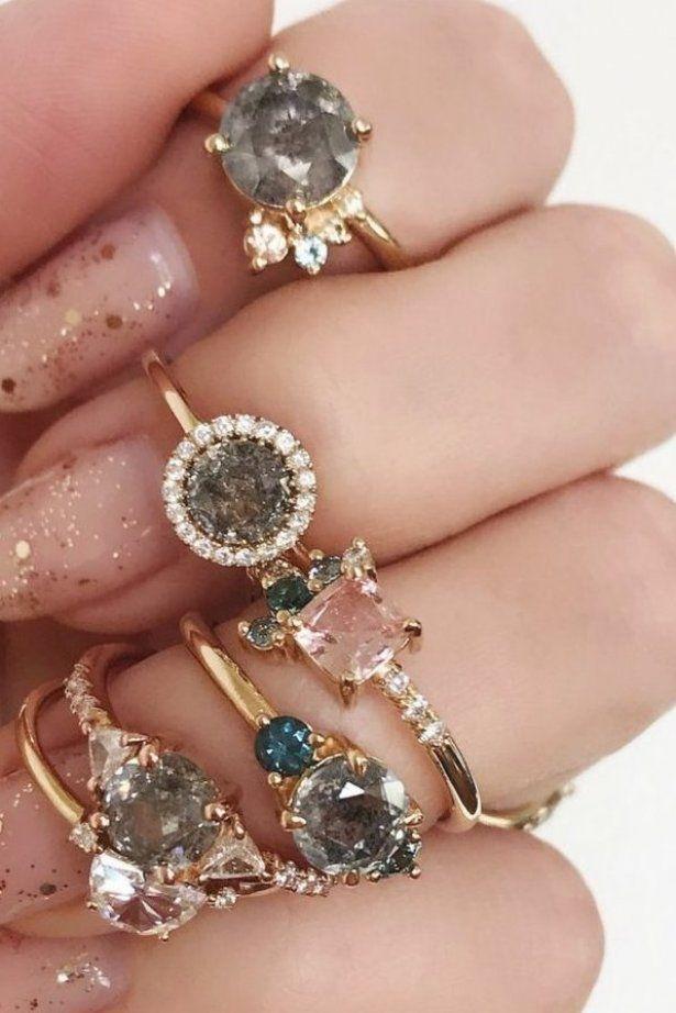 Bagues de fian  ailles en diamant Galaxy de Marrow Fine -  bagues  de  diamant  en  fian  ailles  Fine  Galaxy  Marrow -  diamants #Makeup #eyemakeup ...