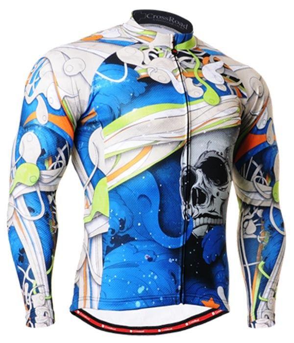 Cycling Jersey Skull T Shirt Biking Clothes Top For Men S 3xl