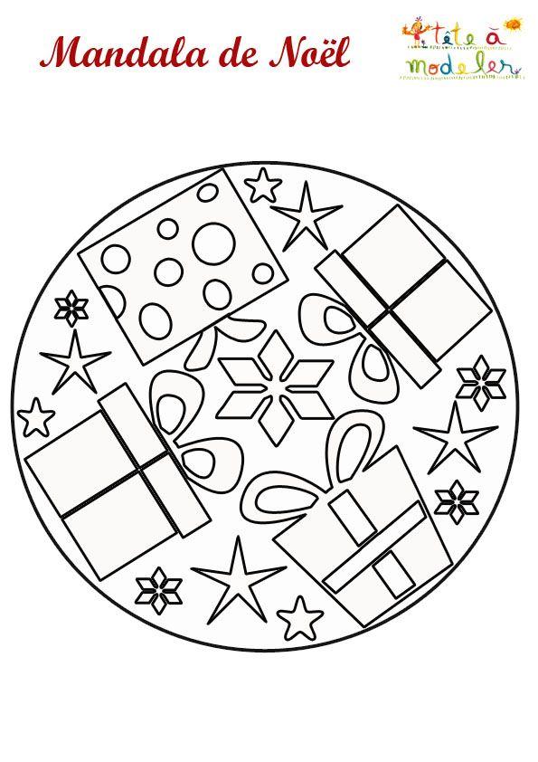 Mandala cadeaux de noel imprimer coloriages pour adultes et enfants mandala noel - Coloriage mandala noel ...